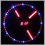 Mirror Wall Clock with Temperature Display and LED light