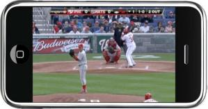 MLB at bat will stream live ball games to your iPhone or iPod.  Batter up.