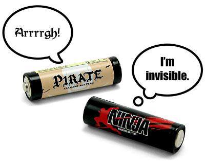 Pirate vs Ninja Batteries