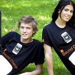 Orange UK's new T-shirts can power your mobile devices, with sound!