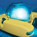 Two people can live in this yellow submarine