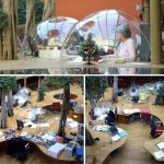 Workplace full of domes and trees, in short, it is ideal