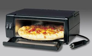 The Porta Pizza Oven. Great for RVs, bad for rush hour