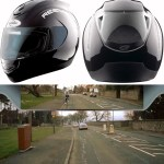 Motorcyclists can see what's behind them with the Reevu Helmet