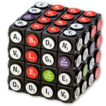 Scruble Cube combines a Rubik's Cube with Scrabble