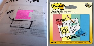 See through Post-it Notes