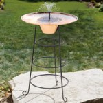 The Solar Fountain Birdbath