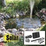 Solar powered pond fountain