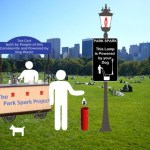 Park Spark lights park lamps with dog waste