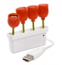 The 4-Port USB Tulip Hub celebrates spring early