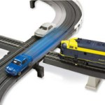 Intersecting Slot Car And Train Set