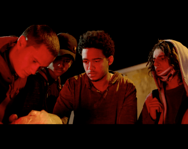 Production still from Steven Caple Jr. and Nas' film 'The Land'