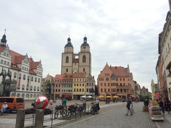 Historische Altstadt – Marktplatz in Wittenberg