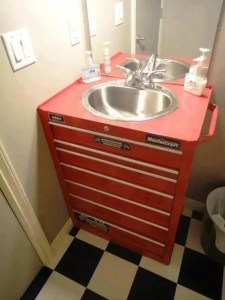 A tool box sink vanity! ... I'm all a-flutter...