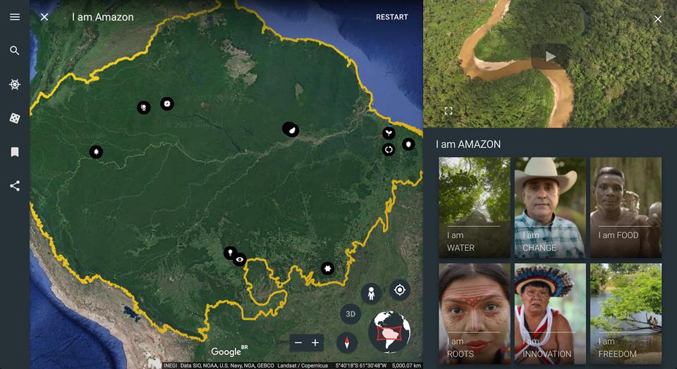 Google Earth te lleva al corazón de la Amazonia
