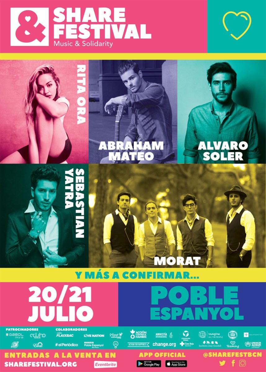 SHARE FESTIVAL | El nuevo festival de música y solidaridad con Rita Ora, Abraham Mateo, Álvaro Soler, Morat y Sebastián Yatra