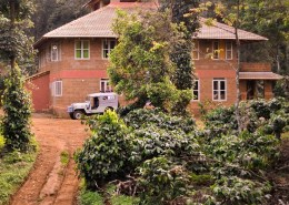 Chingaara Estate House is built on the lush green slopes of The Western Ghats.