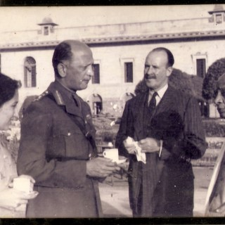 Leela with Gen Cariappa, Gen Bucher and Sardar Patel