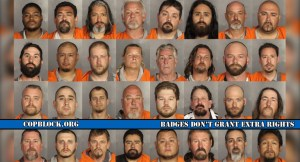 This graphic depicts just a small number of the nearly 200 arrests made following a biker gang-related shooting at a Waco, Texas Twin Peaks restaurant.