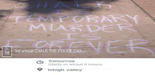 Chalk Police State Lehigh Valley
