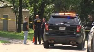 Topeka Police secure Gang War crime scene