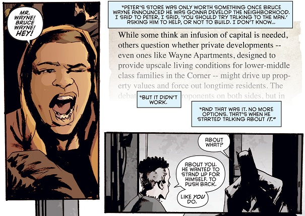 Bruce Wayne is responsible for the death of Duggio?