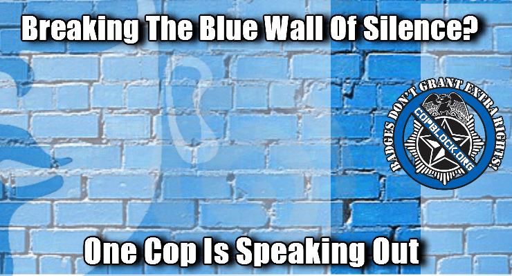the blue wall of silence essay The blue wall of silence being a police officer is an honorable career for the  majority of the public, a police officer is one of the more respected.
