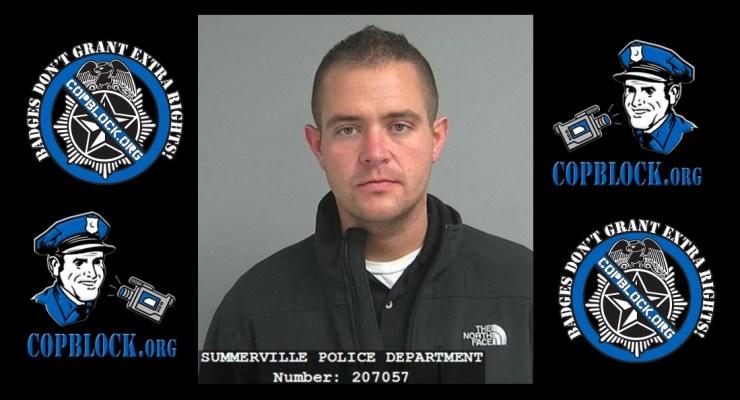 Summerville Police Officer Edward Clemens DUI