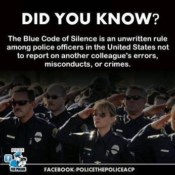 blue code of silence Civilianising the 'blue code' an examination of attitudes to misconduct in the strength of the 'blue code of silence' amongst civilianising the.