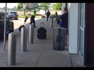Dallas Police Rain Bullets on Man Outside of Airport for Brandishing a Rock