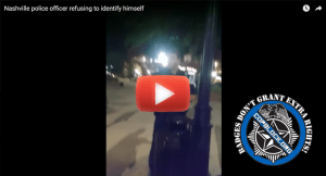 [VIDEO] Metro Police Officer Refuses to ID Himself