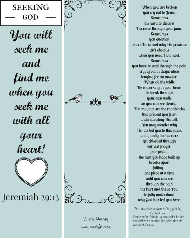 Bible Bookmark printable