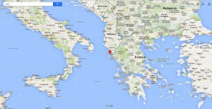 corfu island location