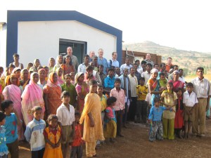 congregation infront of life center-pic1