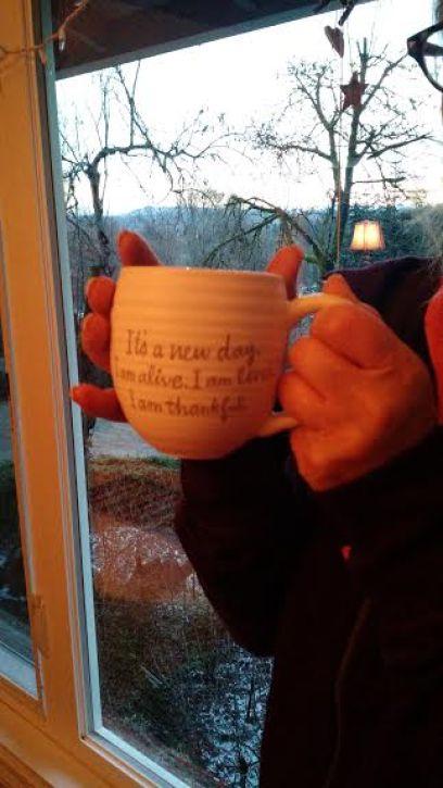 I am alive mug sunrise