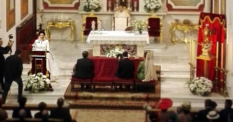 Boda Rociera de Pilar y Eloy en Córdoba. Parroquia Cristo Rey.