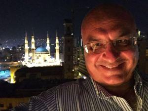 Dalla terrazza del Capitole, con vista sulla Moschea di Mohammad Al-Amin