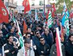 Lo sciopero del 15 novembre scorso in Piazza Gramsci.