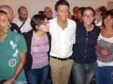 Carla Maestrini con Matteo Renzi e l'assessore Pietrelli