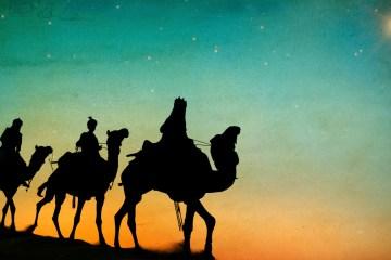 Three Kings Desert Star of Bethlehem Nativity Concept