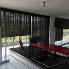 Cortinas roller sunscreen negro