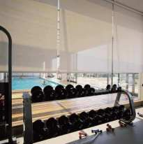 Cortinas sunscreen gimnasio