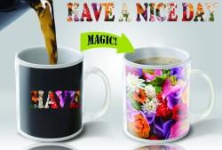 Modish Magic Mugs New Heat Sensitive Color Changing Coffee Mug Good Gift Idea Flowers Design Ceramic Mug Magic Mugs New Heat Sensitive Color Changing Coffee Mug