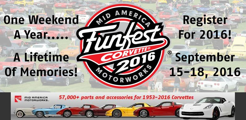 Mid America Motorworks Announces Corvette Funfest Theme for 2016