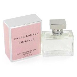 Frasco e caixa do perfume Romance, de Ralph Lauren, no relançamento de 2011.