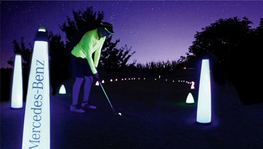 cosmic driving range night golf