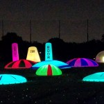 Night sports glow targets