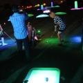 Playing night golf