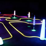 glow night golf putting track
