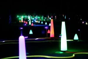 cosmic driving range from the putting green